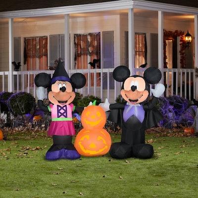 Airblown-Mickey & Minnie With Pumpkins