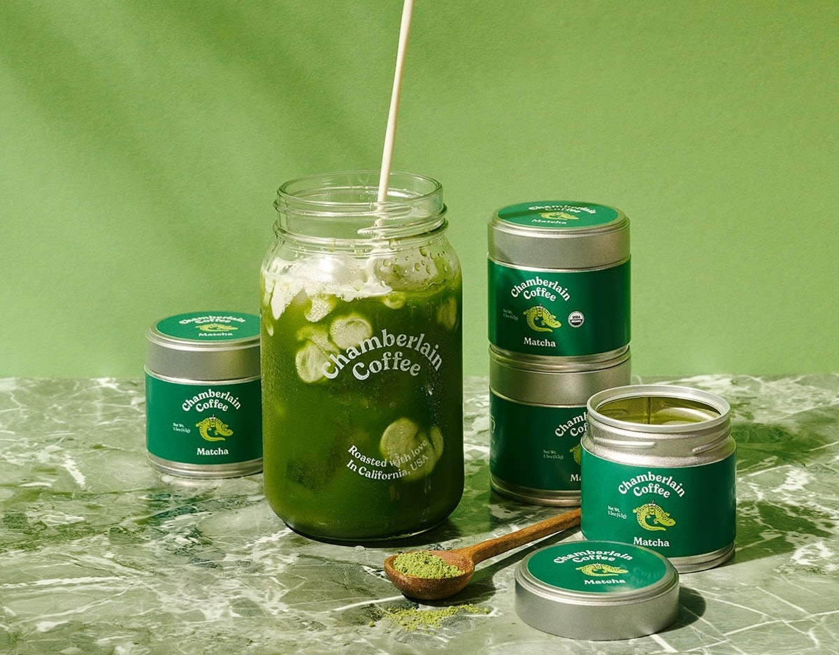 The latest product in Emma Chamberlain's coffee brand, Chamberlain Coffee, is a new matcha green tea...