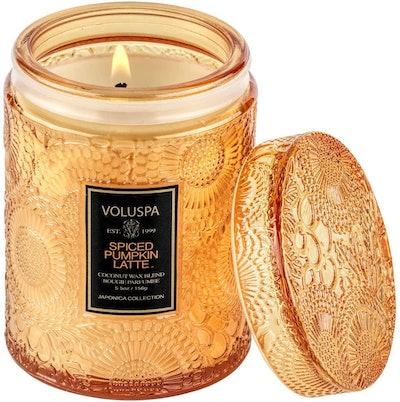 Voluspa Spiced Pumpkin Latte Candle, 18 Oz.