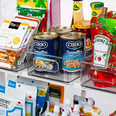 Ecowaare Plastic Refrigerator Organizer Bins (6 Pack)