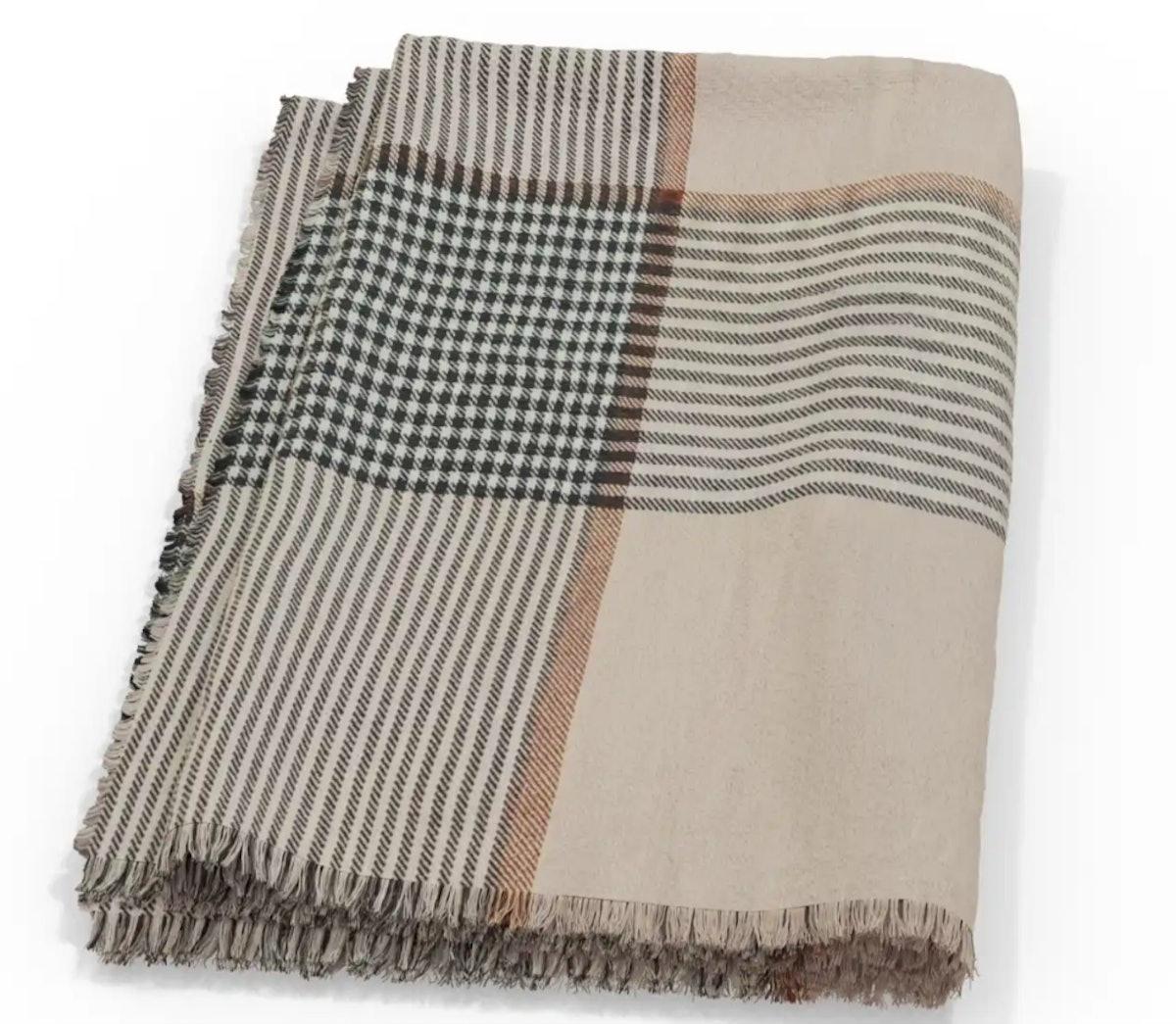 Bug Shield Blanket - Striped Plaid