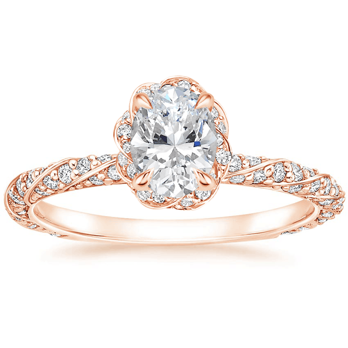 Nova Diamond Engagement Ring in 14k Rose Gold, available to shop via Brilliant Earth.