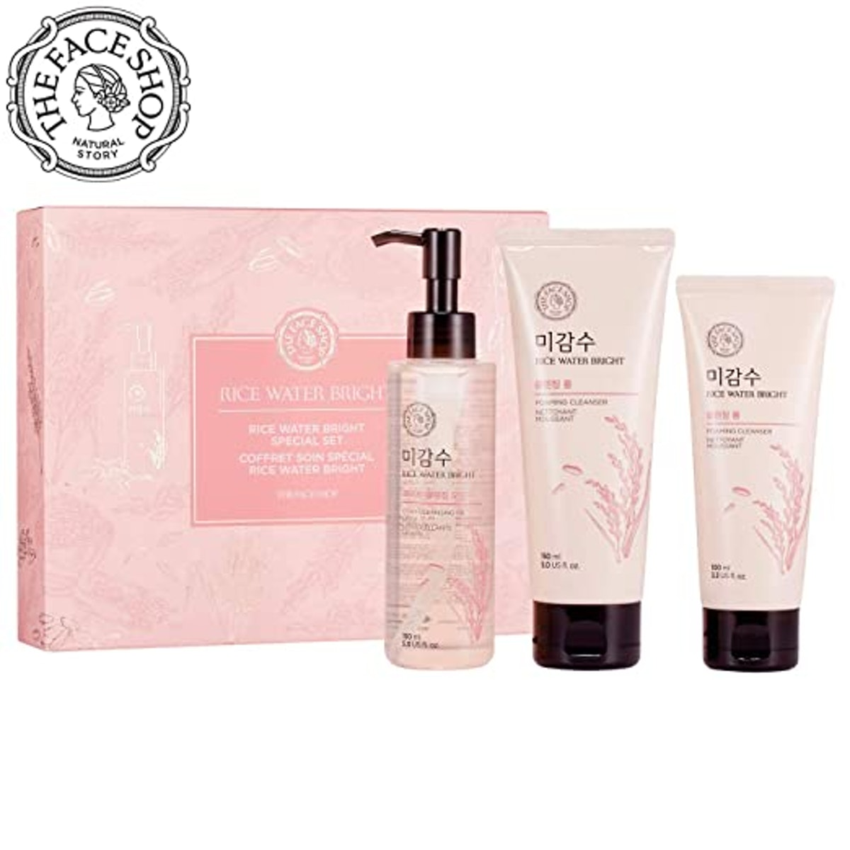THE FACE SHOP Rice Water Bright Set (3-Piece)