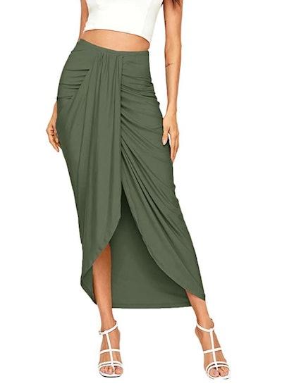 SheIn High Waist Draped Skirt