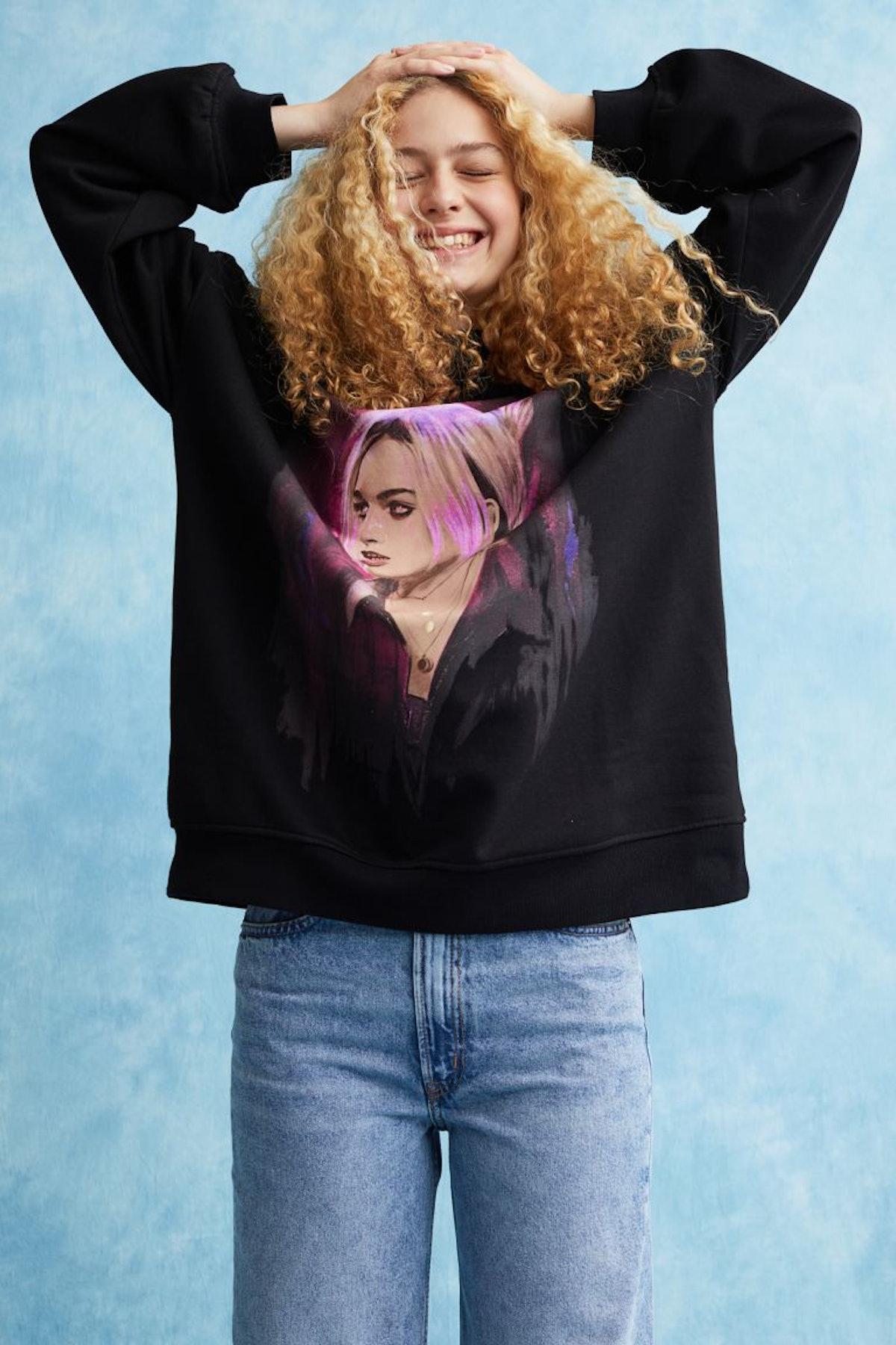 Oversized Printed Sweatshirt