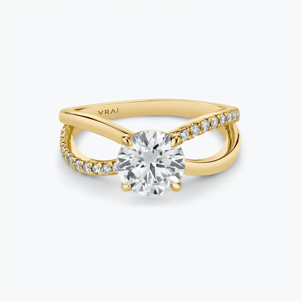 The Duet twist diamond engagement ring from VRAI.