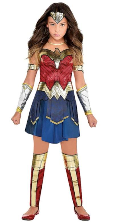 Girl dressed as Wonder Woman