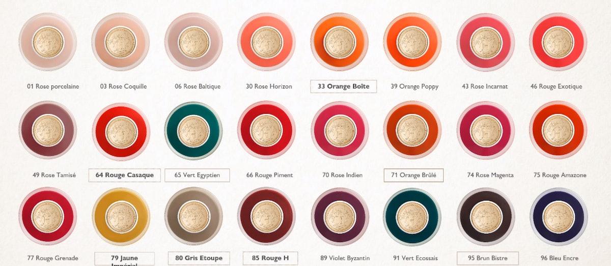 Hermès Beauty nail polish color library