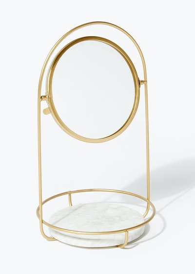 Gold Wire Bathroom Mirror