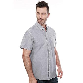 MOCOTONO Short Sleeve Oxford Button Down Shirt