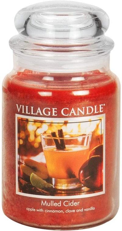 Village Candle Mulled Cider Jar Candle, 21.25 Oz.