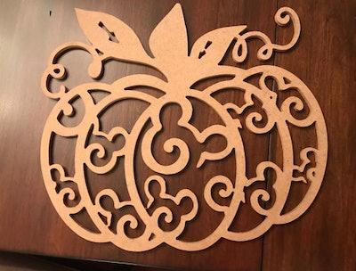 Hidden Mickey Pumpkin For Your Door Or Wall