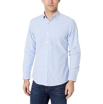 Amazon Essentials Long-Sleeve Pocket Oxford Shirt