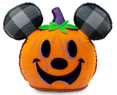Mickey Mouse Jack-O'-Lantern Halloween Pillow