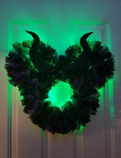 "16"" Or 22"" Maleficent Light Up Disney Villain Halloween Wreath"