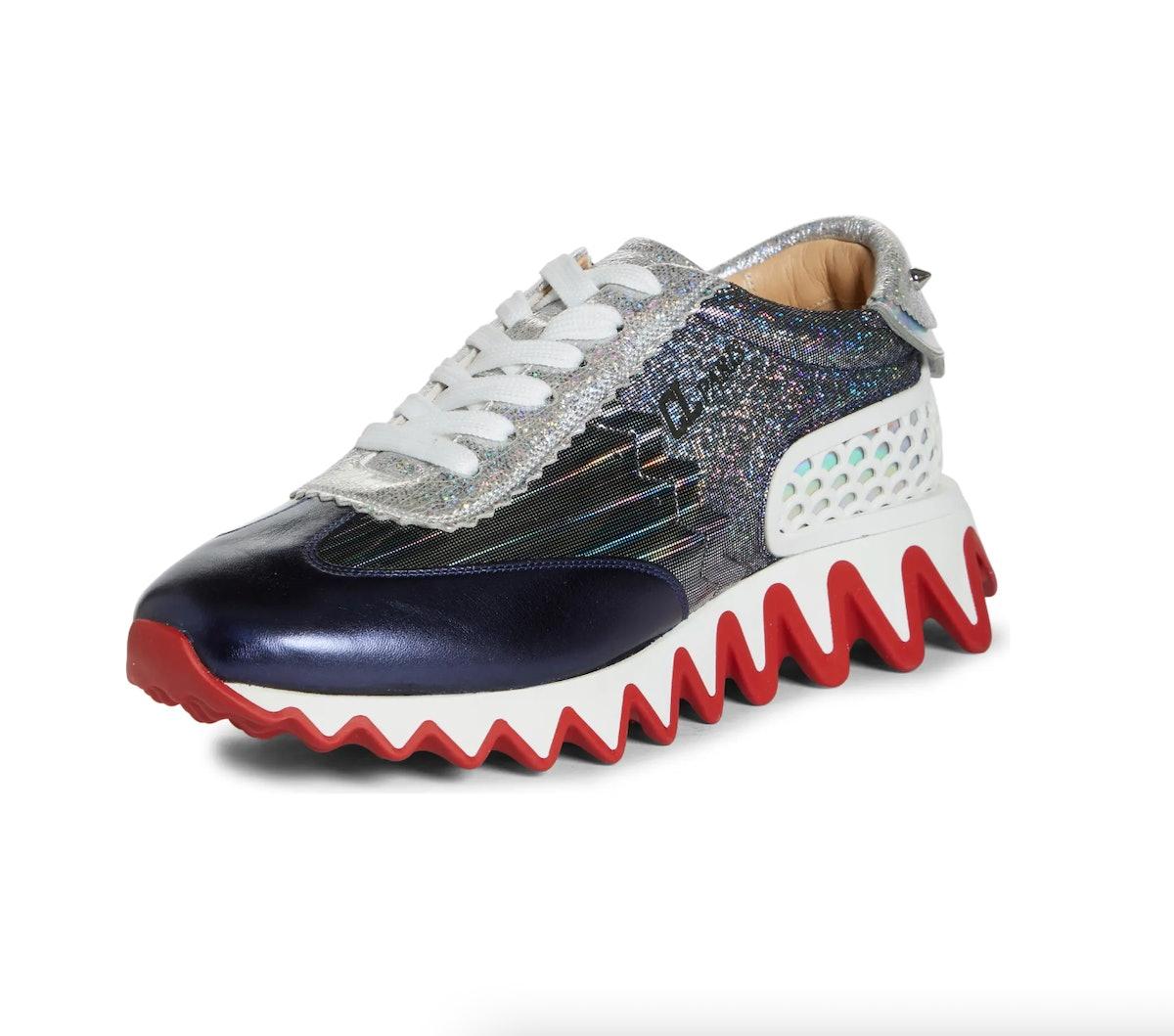 Christian Louboutin Loubishark Metallic Sneaker