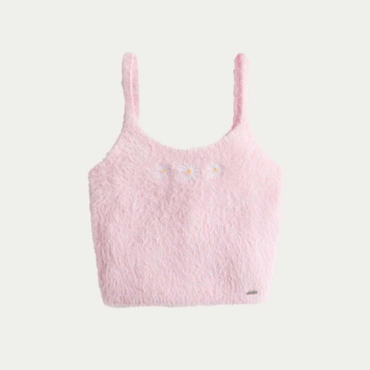 Fuzzy Crop Sweater Tank