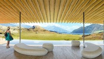 Peter Thiel New Zealand luxury lodge concept art