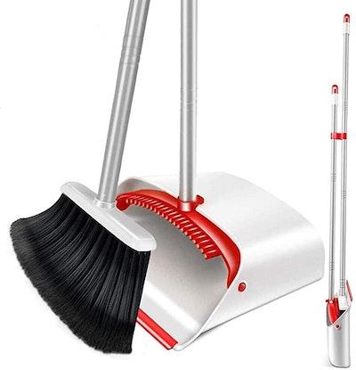 Upright Broom and Dustpan Set