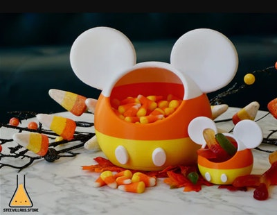 Mickey Mouse Disney Inspired Halloween Candy Corn Candy Dish