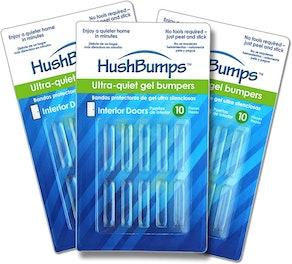 HushBumps Ultra-Quiet Bumpers for Interior Doors (30 Count)