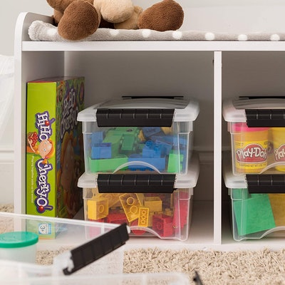 IRIS USA Clear Plastic Storage Bin (10 Pack)