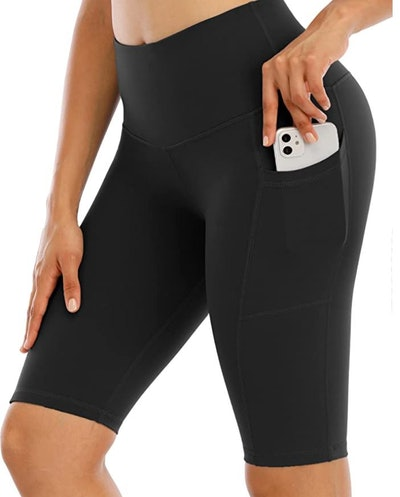 CHRLEISURE High Waisted Yoga Biker Shorts