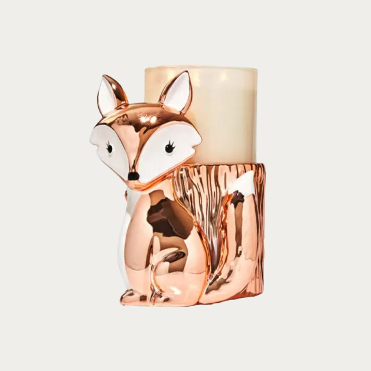 Fox Pedestal Candle Holder