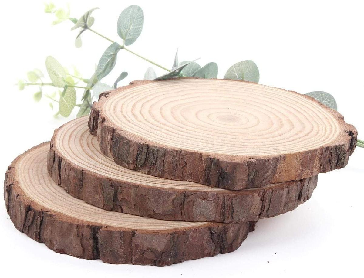 Unfinished Natural Wood Slices