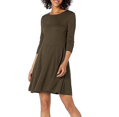Lark & Ro Three Quarter Sleeve Fit and Flare Dress