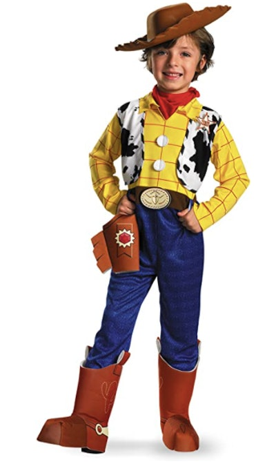 Child dressed as Woody from Toy Story