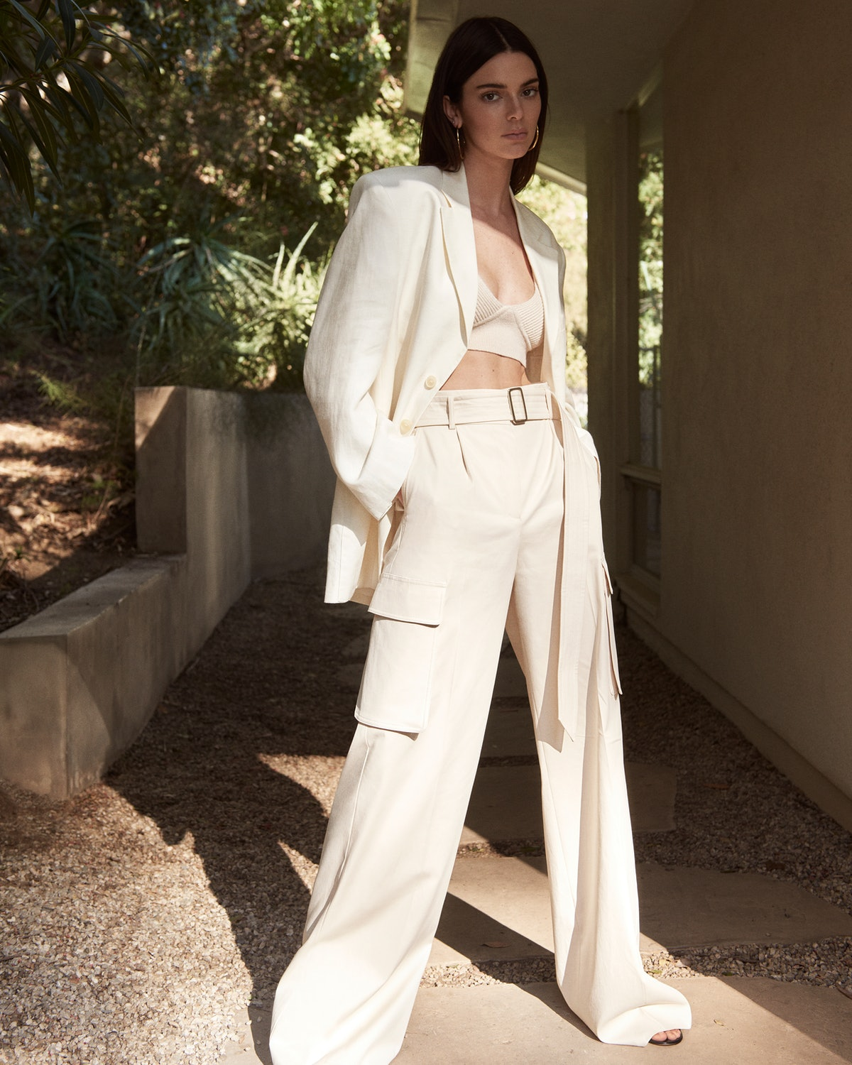Kendall Jenner wears oversize blazer and pants in her new campaign for FWRD.