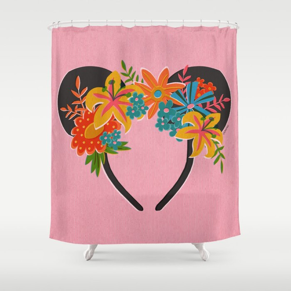 This Society6 x Disney Minnie Mouse Collection shower curtain can makeover your room.