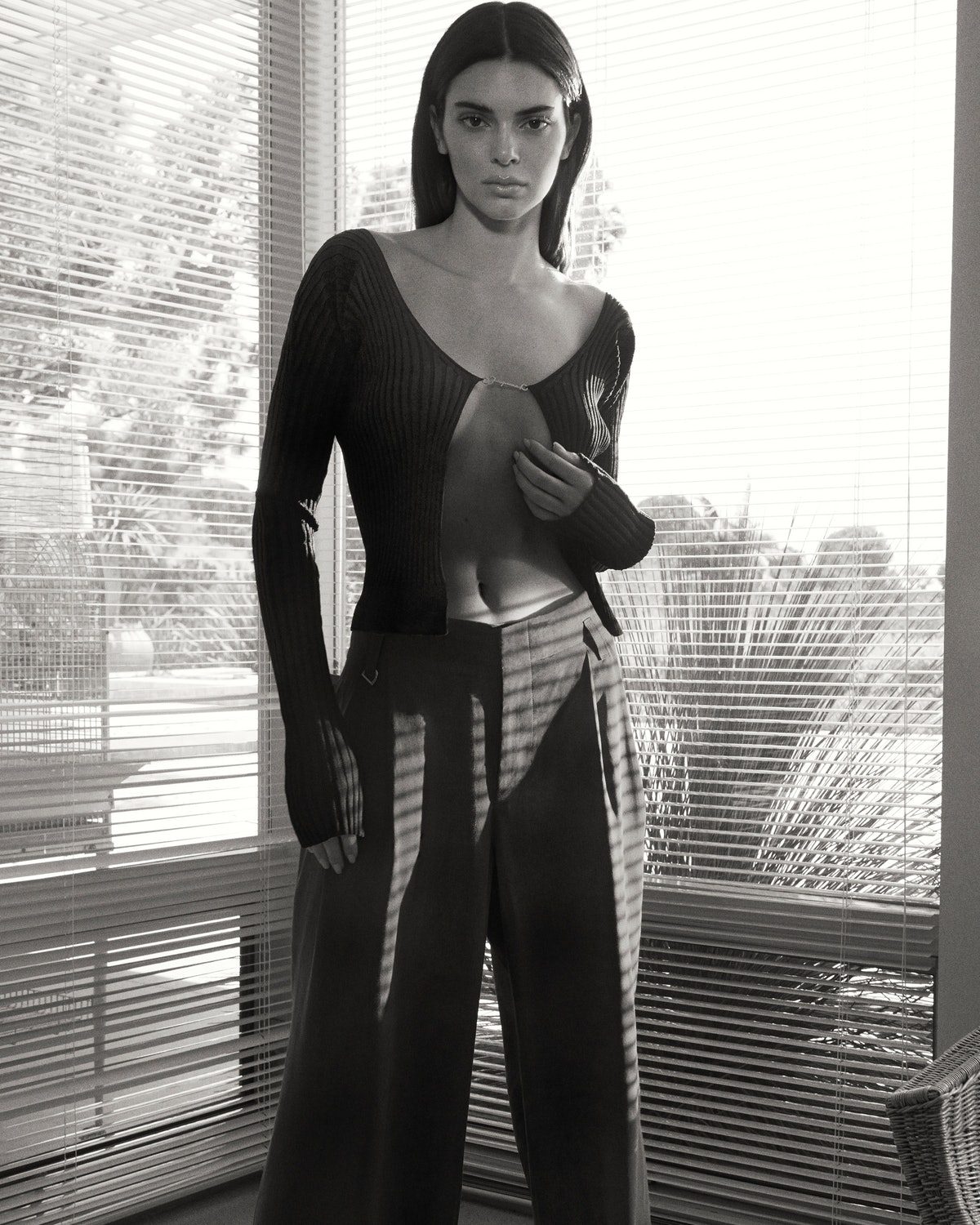Kendall Jenner wears Jacquemus cardigan in her new campaign for FWRD.