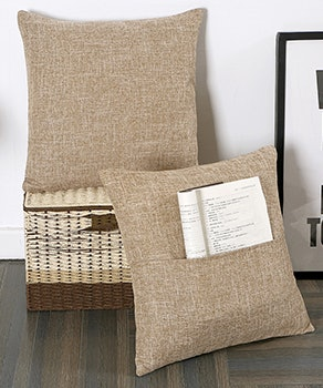 Xinrjojo Pillow Covers with Pockets (2-Pack)