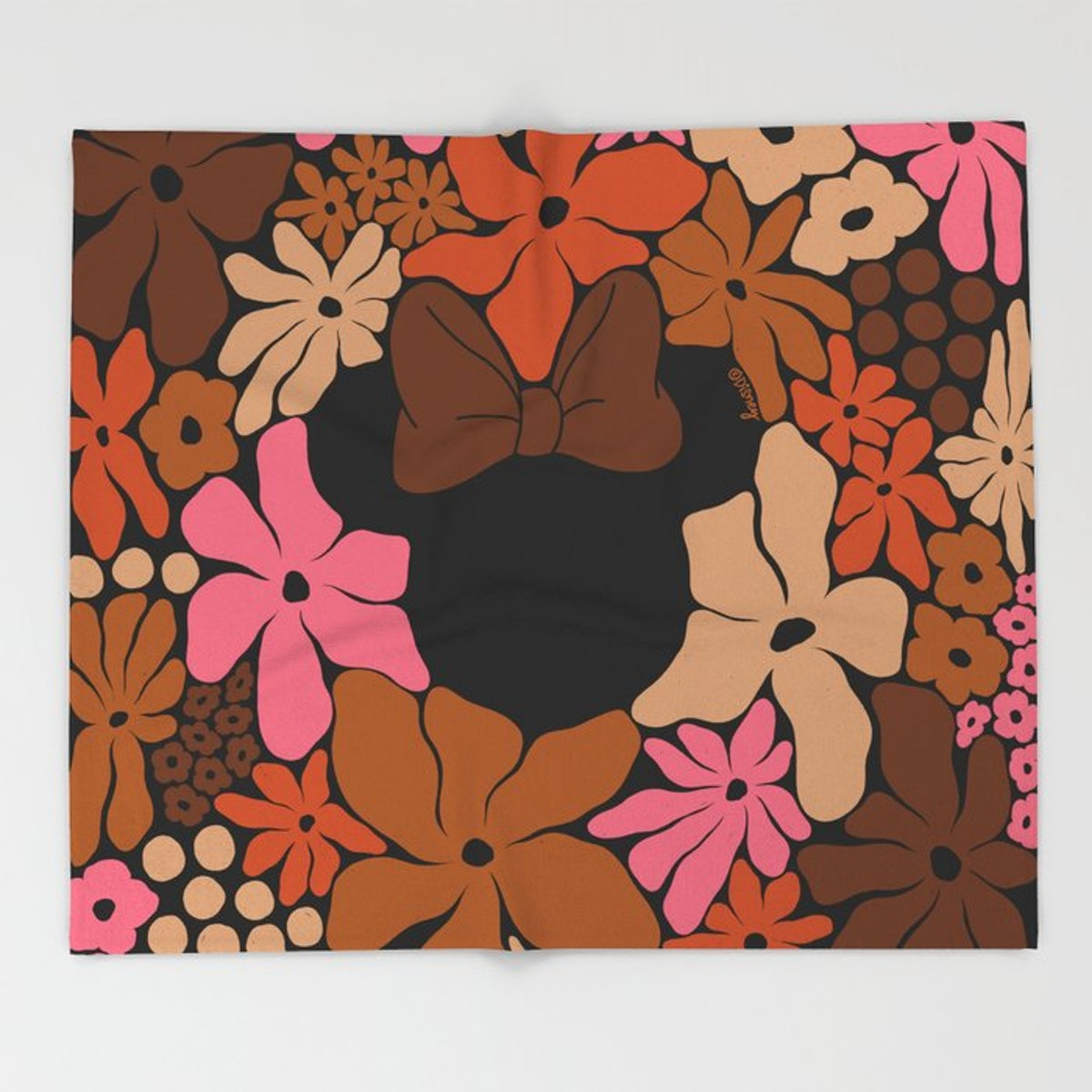 This Society6 x Disney Minnie Mouse Collection throw is perfect for the fall.