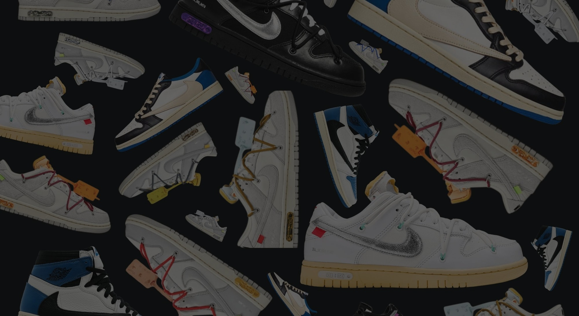 """Nike x Off-White """"The 50"""" Dunk Low and Travis Scott Fragment Jordans"""