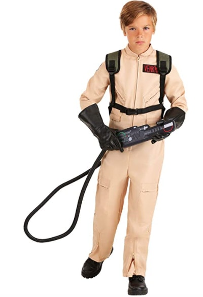 Boy in a Ghostbuster costume