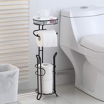 SunnyPoint Toilet Paper Holder with Shelf