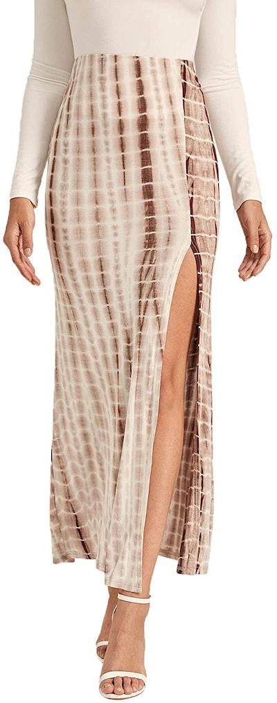 Verdusa Side Split Maxi Skirt