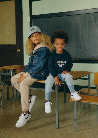 kids wearing the osh kosh x kith line