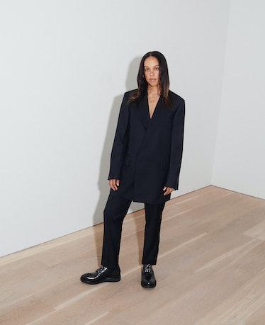 Ebony L. Haynes at David Zwirner gallery in New York.