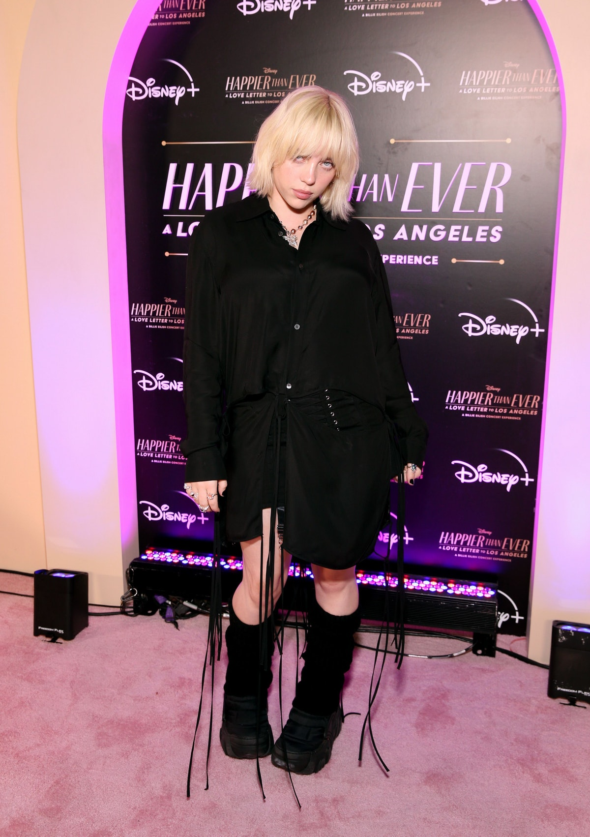 """Billie Eilish attends """"Happier Than Ever: A Love Letter To Los Angeles"""" Worldwide Premiere at The Gr..."""