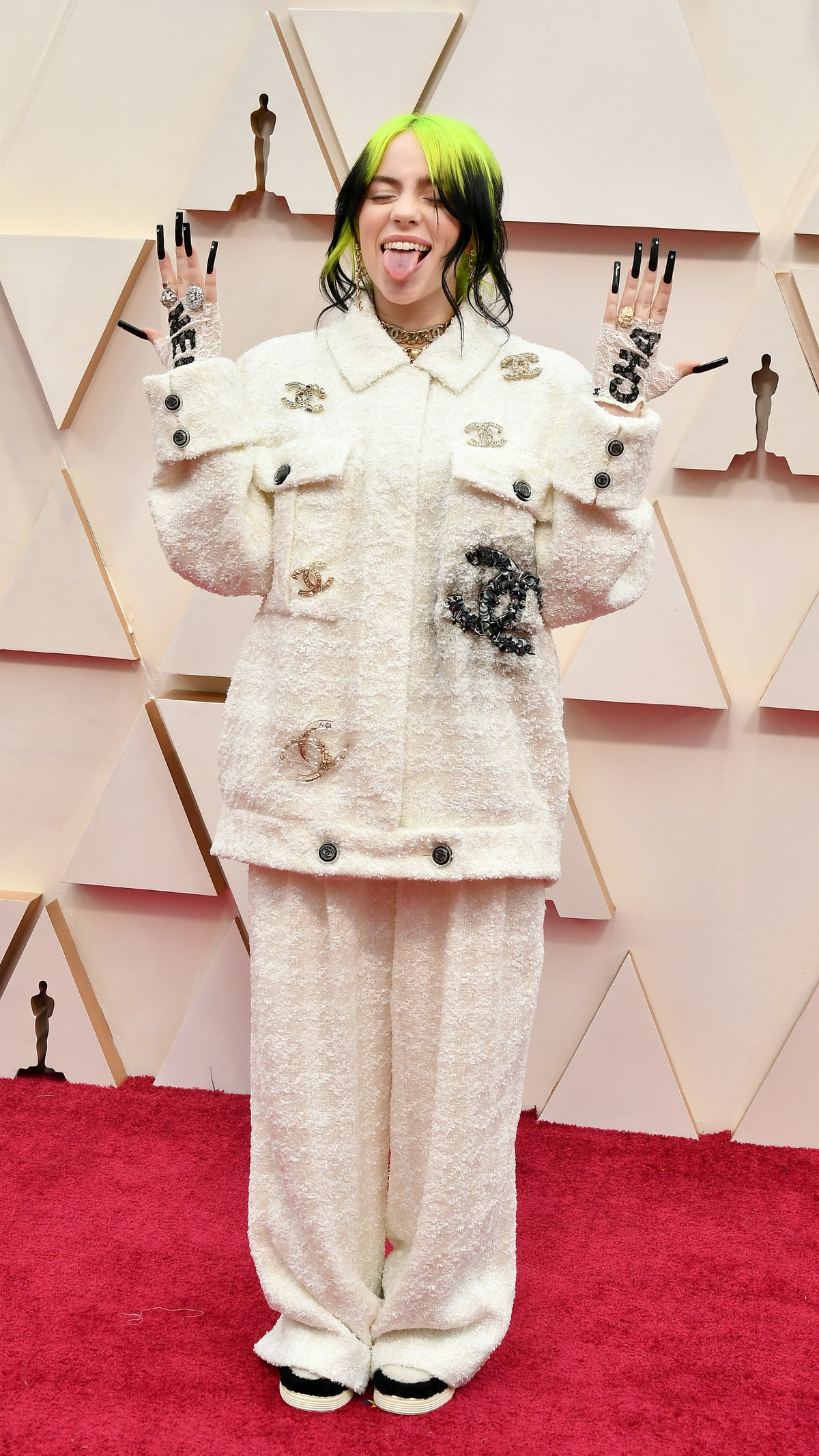illie Eilish attends the 92nd Annual Academy Awards at Hollywood and Highland on February 09, 2020 i...