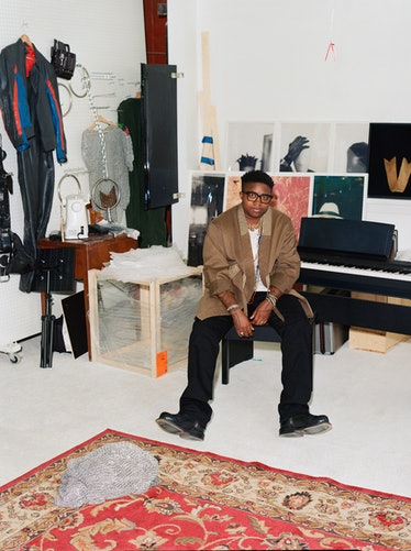 Tiona Nekkia McClodden, surrounded by finished and unfinished pieces in her Philadelphia studio, mak...