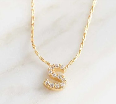 Altar'd State Rhinestone Initial Necklace – S