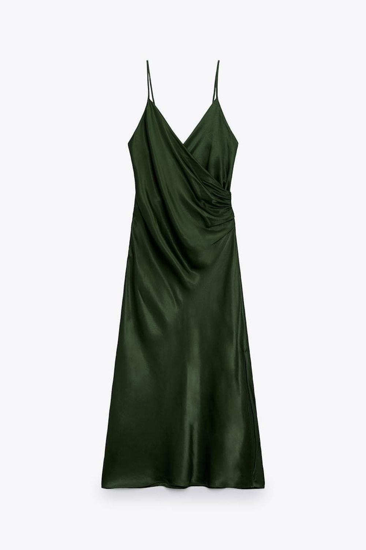 Draped Lingerie Style Dress