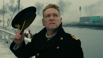 Kenneth Branagh looking up in Dunkirk