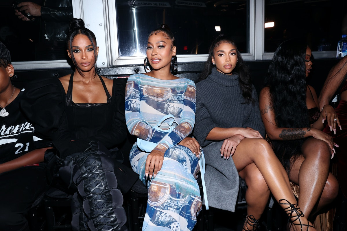 Ciara, La La and Lori Harvey attend front row for Laquan Smith during NYFW: The Shows on September 0...