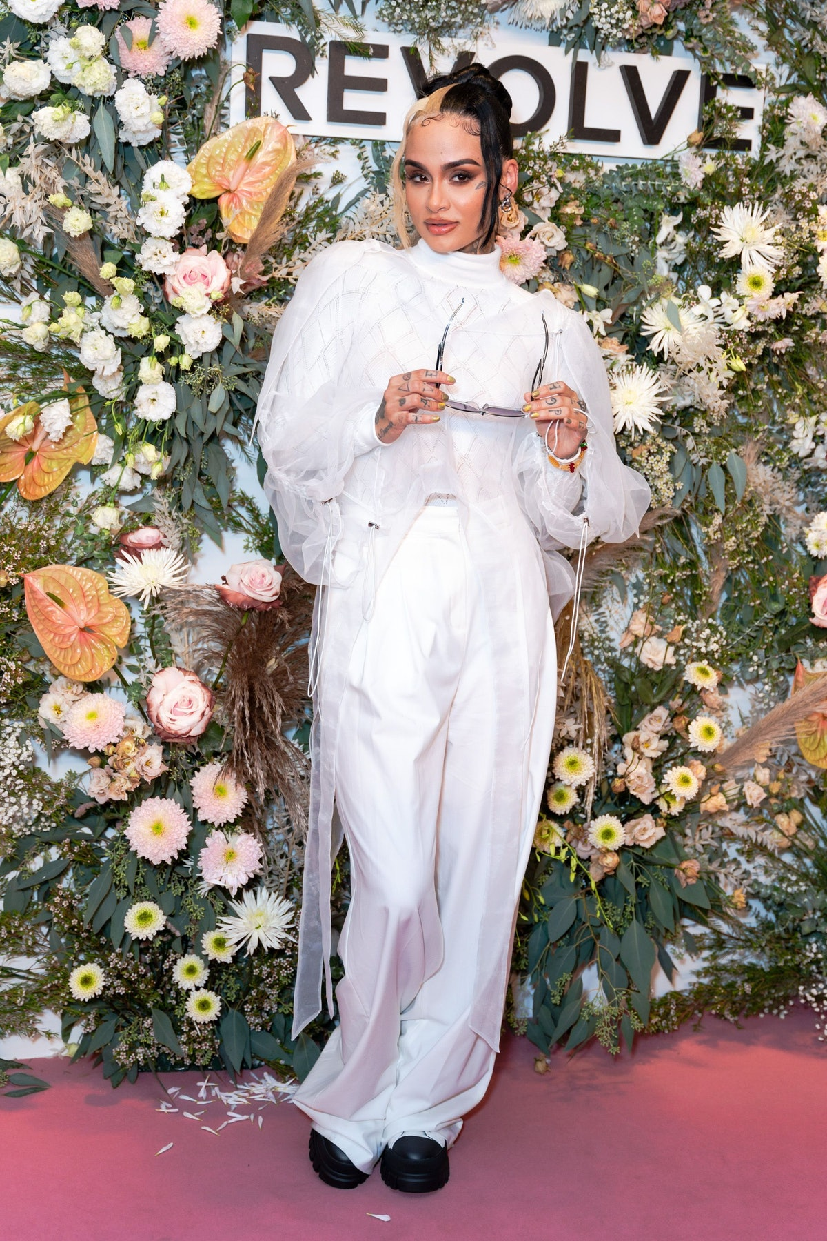 Kehlani attends the Revolve Gallery at Hudson Yards on September 09, 2021 in New York City.